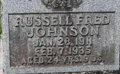 JOHNSON, RUSSELL FRED - Medina County, Ohio | RUSSELL FRED JOHNSON - Ohio Gravestone Photos