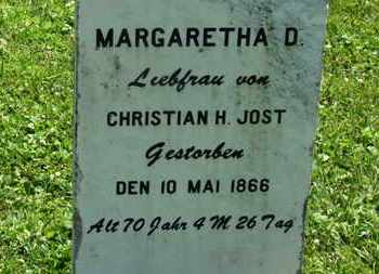 JOST, MARGARETHA D - Medina County, Ohio | MARGARETHA D JOST - Ohio Gravestone Photos