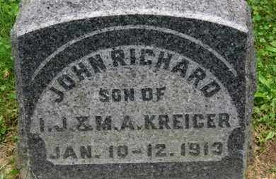 KREIGER, JOHN RICHARD - Medina County, Ohio | JOHN RICHARD KREIGER - Ohio Gravestone Photos