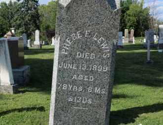 LEWIS, PHEBE F. - Medina County, Ohio | PHEBE F. LEWIS - Ohio Gravestone Photos