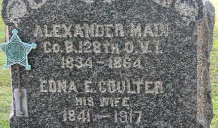 COULTER MAIN, EDNA E. - Medina County, Ohio | EDNA E. COULTER MAIN - Ohio Gravestone Photos