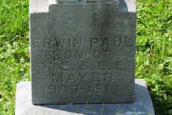 MAYER, ERWIN PAUL - Medina County, Ohio | ERWIN PAUL MAYER - Ohio Gravestone Photos