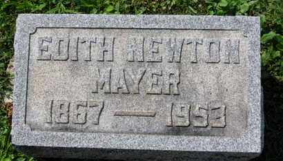 NEWTON MAYER, EDITH - Medina County, Ohio | EDITH NEWTON MAYER - Ohio Gravestone Photos