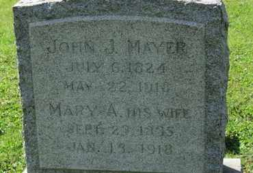 MAYER, MARY A. - Medina County, Ohio | MARY A. MAYER - Ohio Gravestone Photos
