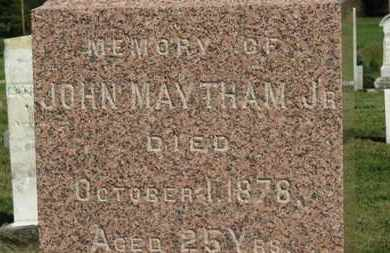 MAYTHAM, JOHN JR. - Medina County, Ohio | JOHN JR. MAYTHAM - Ohio Gravestone Photos
