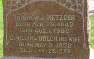 METZGER, CAROLINA - Medina County, Ohio | CAROLINA METZGER - Ohio Gravestone Photos