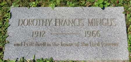 MINGUS, DOROTHY FRANCIS - Medina County, Ohio | DOROTHY FRANCIS MINGUS - Ohio Gravestone Photos