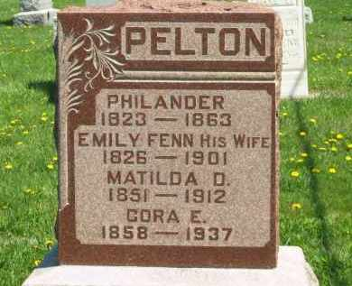 PELTON, PHILANDER - Medina County, Ohio | PHILANDER PELTON - Ohio Gravestone Photos