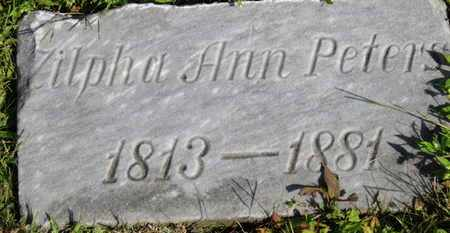 PETERS, ZILPHA ANN - Medina County, Ohio | ZILPHA ANN PETERS - Ohio Gravestone Photos