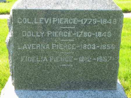 PIERCE, COL. LEVI - Medina County, Ohio | COL. LEVI PIERCE - Ohio Gravestone Photos