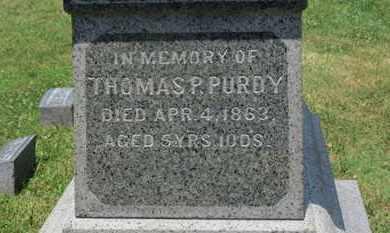 PURDY, THOMAS P. - Medina County, Ohio | THOMAS P. PURDY - Ohio Gravestone Photos