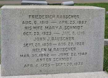 RAUSCHER, FREDERICH - Medina County, Ohio | FREDERICH RAUSCHER - Ohio Gravestone Photos