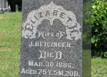 REISINGER, ELIZANETH - Medina County, Ohio   ELIZANETH REISINGER - Ohio Gravestone Photos