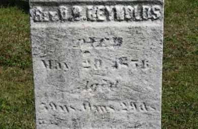 REYNOLDS, REV.D.B. - Medina County, Ohio   REV.D.B. REYNOLDS - Ohio Gravestone Photos