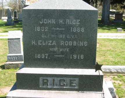 ROBBINS RICE, H. ELIZA - Medina County, Ohio | H. ELIZA ROBBINS RICE - Ohio Gravestone Photos