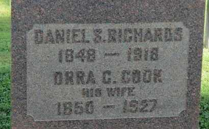 RICHARDS, DANIEL S. - Medina County, Ohio | DANIEL S. RICHARDS - Ohio Gravestone Photos
