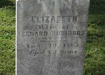 RICHARDS, ELIZABETH - Medina County, Ohio | ELIZABETH RICHARDS - Ohio Gravestone Photos