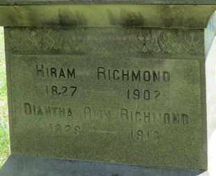 RICHMOND, DIANTHA - Medina County, Ohio | DIANTHA RICHMOND - Ohio Gravestone Photos