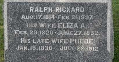 RICKARD, RALPH - Medina County, Ohio | RALPH RICKARD - Ohio Gravestone Photos