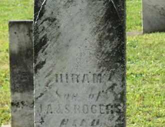 ROGERS, HIRAM - Medina County, Ohio | HIRAM ROGERS - Ohio Gravestone Photos