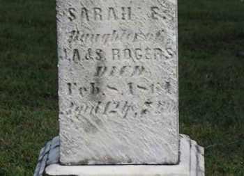 ROGERS, SARAH E. - Medina County, Ohio | SARAH E. ROGERS - Ohio Gravestone Photos