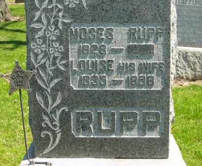 RUPP, MOSES - Medina County, Ohio | MOSES RUPP - Ohio Gravestone Photos