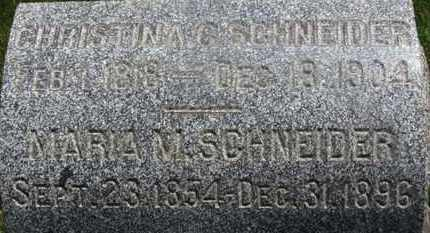 SCHNEIDER, CHRISTINA C. - Medina County, Ohio | CHRISTINA C. SCHNEIDER - Ohio Gravestone Photos