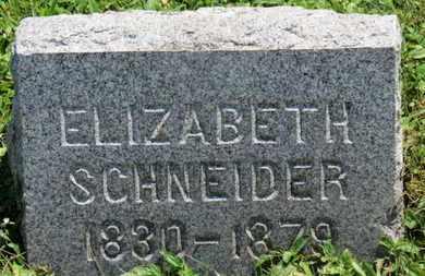 SCHNEIDER, ELIZABETH - Medina County, Ohio | ELIZABETH SCHNEIDER - Ohio Gravestone Photos