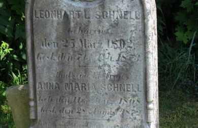 SCHNELL, LEONHART L. - Medina County, Ohio | LEONHART L. SCHNELL - Ohio Gravestone Photos