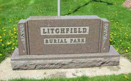 LITCHFIELD CEMETERY SIGN,  - Medina County, Ohio |  LITCHFIELD CEMETERY SIGN - Ohio Gravestone Photos
