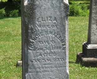 SMALLMAN, ELIZA - Medina County, Ohio | ELIZA SMALLMAN - Ohio Gravestone Photos