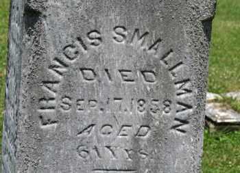 SMALLMAN, FRANCIS - Medina County, Ohio | FRANCIS SMALLMAN - Ohio Gravestone Photos