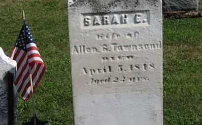 TOWNSEND, SARAH E. - Medina County, Ohio | SARAH E. TOWNSEND - Ohio Gravestone Photos