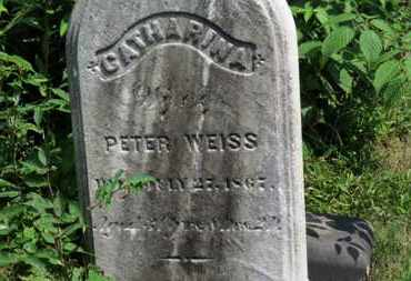 WEISS, CATHARINA - Medina County, Ohio | CATHARINA WEISS - Ohio Gravestone Photos