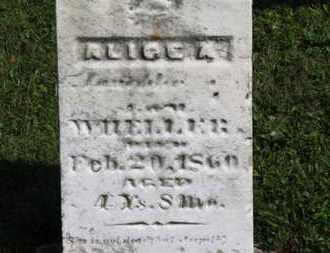 WHELLER, ALICE A. - Medina County, Ohio   ALICE A. WHELLER - Ohio Gravestone Photos