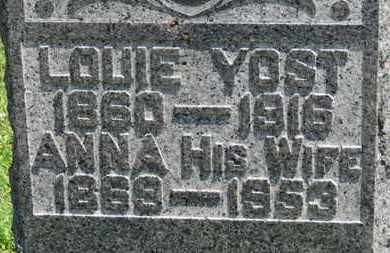 YOST, LOUIE - Medina County, Ohio | LOUIE YOST - Ohio Gravestone Photos