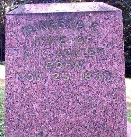 ACKLEY, MINERVA - Meigs County, Ohio | MINERVA ACKLEY - Ohio Gravestone Photos