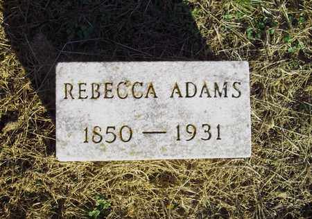 ADAMS, REBECCA - Meigs County, Ohio | REBECCA ADAMS - Ohio Gravestone Photos