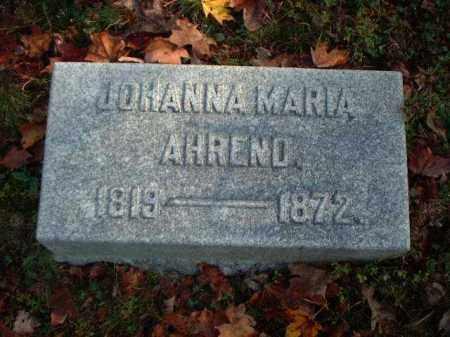 AHREND, JOHANNA MARIA - Meigs County, Ohio | JOHANNA MARIA AHREND - Ohio Gravestone Photos