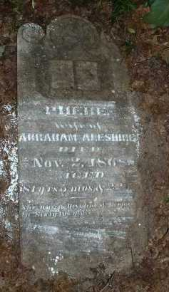 ALESHIRE, PHEBE - Meigs County, Ohio | PHEBE ALESHIRE - Ohio Gravestone Photos