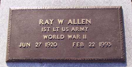 ALLEN, RAY W. - MILITARY - Meigs County, Ohio | RAY W. - MILITARY ALLEN - Ohio Gravestone Photos
