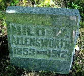 ALLENSWORTH, MILO W. - Meigs County, Ohio | MILO W. ALLENSWORTH - Ohio Gravestone Photos