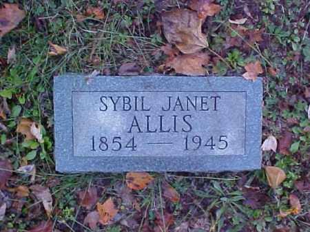 ALLIS, SYBIL JANET - Meigs County, Ohio   SYBIL JANET ALLIS - Ohio Gravestone Photos