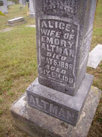 ALTMAN, ALICE - CLOSE VIEW - Meigs County, Ohio | ALICE - CLOSE VIEW ALTMAN - Ohio Gravestone Photos