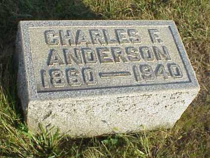 ANDERSON, CHARLES F. - Meigs County, Ohio | CHARLES F. ANDERSON - Ohio Gravestone Photos
