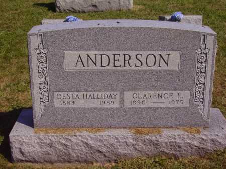HALLIDAY ANDERSON, DESTA - MONUMENT - Meigs County, Ohio | DESTA - MONUMENT HALLIDAY ANDERSON - Ohio Gravestone Photos