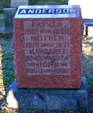 ANDERSON, MARGARET - Meigs County, Ohio | MARGARET ANDERSON - Ohio Gravestone Photos
