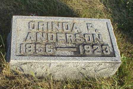 ANDERSON, ORINDA P. - Meigs County, Ohio | ORINDA P. ANDERSON - Ohio Gravestone Photos