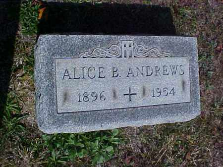 ANDREWS, ALICE B. - Meigs County, Ohio | ALICE B. ANDREWS - Ohio Gravestone Photos