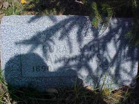 SCOTT ANDREWS, CORA - Meigs County, Ohio | CORA SCOTT ANDREWS - Ohio Gravestone Photos